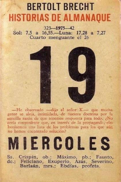 Historias de almanaque Bertolt Brecht » Pangea Ebook