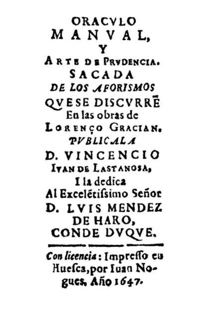 Oráculo manual y arte de prudencia Baltasar Gracián » Pangea Ebook